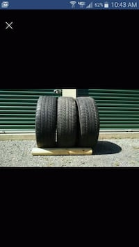 Three P275/60R20 tires - 8/32 inch tread remain 38 km