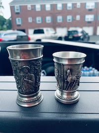 Old steel cups and shot glasses  Hackensack, 07601