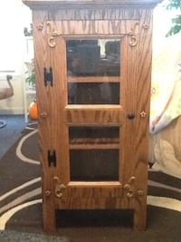Brown wooden and clear glass cabinet Locust Grove, 22508
