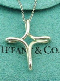 Tiffany Infinity Cross - sterling silver pendant necklace