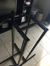 black metal framed glass top TV stand Miami, 33130