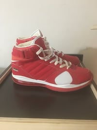 pair of red-and-white Nike basketball shoes East Alton, 62024