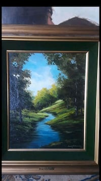 """Rare Original oil on canvas """"Summer In The Canyon"""""""