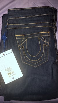 blue True Religion denim bottoms Mississauga, L5R 3Y7