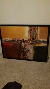 black wooden framed painting of trees Edmonton, T5A 2N9