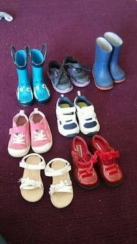toddler's assorted pairs of shoes Richmond, V6Y