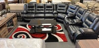 Black - chocolate leather sectional available reclining sectional recliner  Jacksonville, 32246
