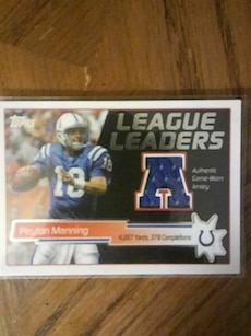 football player trading card
