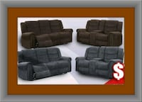 Grey or chocolate recliner set Temple Hills