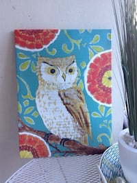 Owl picture art decor painting