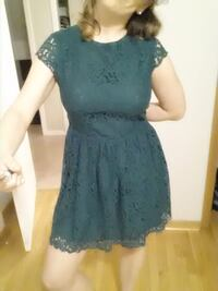 Used green dress in very good condition by H @ M company. eur 42. us.12  Mississauga, L5B 2L9