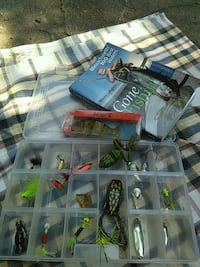 Fishing lures with case and book Norwell, 02061