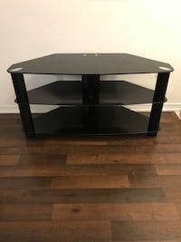 black glass 3-layer TV stand Oakville