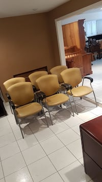Set of six office chairs