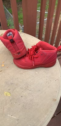 Pair of red Jordans sneakers Fredericksburg, 22405