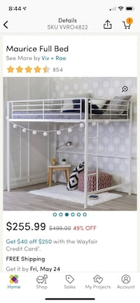 white metal bunk bed collage Sylvania, 30467