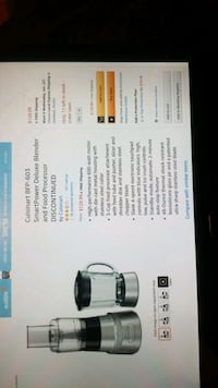 Cuisinart Blender and Food Processor/Not Negotiable
