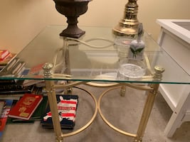 Glass coffee tables - set of 2
