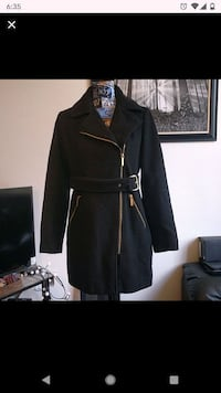 Michael Kors black wool coat size small
