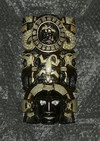 "11"" x 5.5"" x 3.5"" Brand New! Mexican/Mayan Wall Mask Statue Figurine S Toronto"