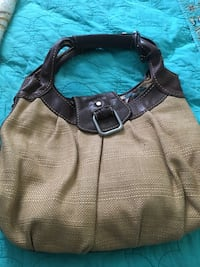 Burlap and leather purse  Warrenton, 20187
