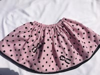 Unique hand maid baby pink skirt with black poco dots and black details  Skokie, 60077