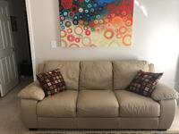Leather Sofa, Chair and Ottoman. Great condition; very light wear