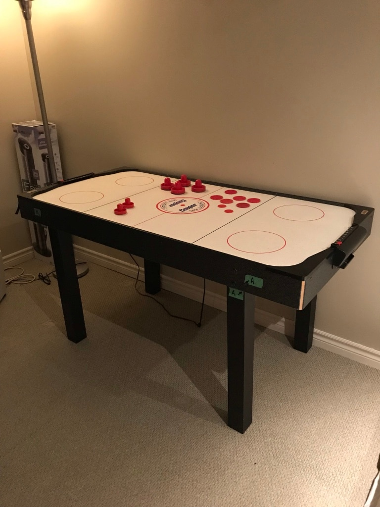 used cooper top action air hockey table 30 u201d x 60 u201d for sale in rh gb letgo com