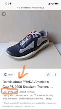 Prada PS0906 America's Cup Shoes