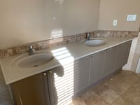 Double sink vanity for sale including stone and faucets Burlington, L7M