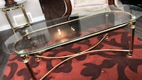 3pcs glass and golden coffee table set Edmonton, T5X 0G1