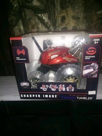red and black RC car toy 744 mi