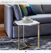 Hex side table - brass from west elm Washington, 20003