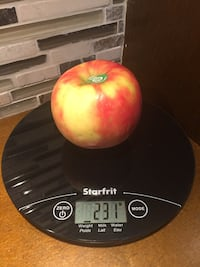 STARFRIT Slim Glass Top Digital Food Weight Scale 93756 Bolton, L7E 1X7