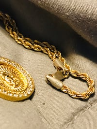 14k gold over bronze rope chain with pendent East Providence, 02915