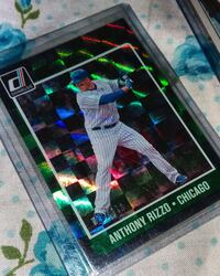2017 SSP variation, parallel donruss elite Emerald refractor.#'d RIZZO