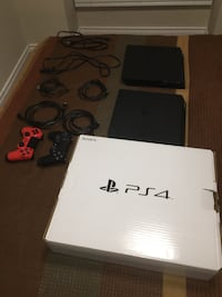 Selling Two PS4s, Two Controllers, Two Power Cables, Two Charging Cables, PS4 Box Burlington, L7R 3K1