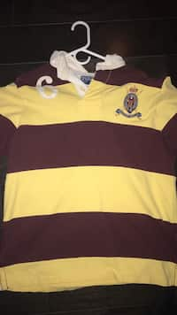 87505b7f8a ... very rare Rugby polo shirt. Cornwall, 12518. yellow and brown polo shirt