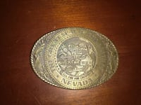 Antique State of Nevada belt buckle by  Tony Lama Minneapolis, 55407