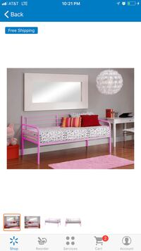 Pink twin daybed