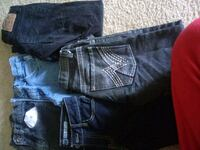 blue denim straight-cut jeans 48 km