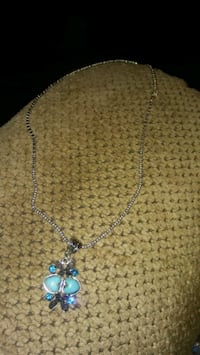 silver-colored necklace with blue gemstone pendant Greeneville, 37743
