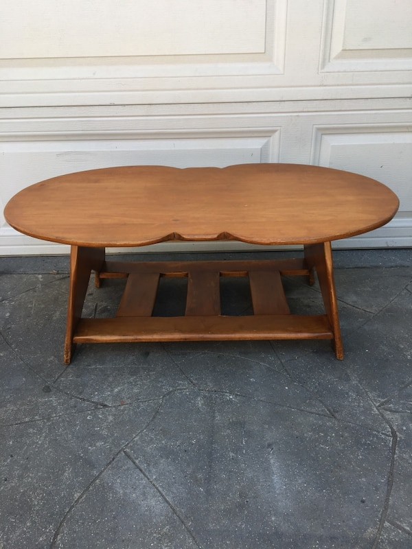 Maple Wood Coffee Table.Solid Maplewood Coffee Table