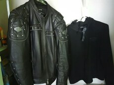 HARLEY DAVIDSON LEATHER JACKET AND HOODIE SYSTEM