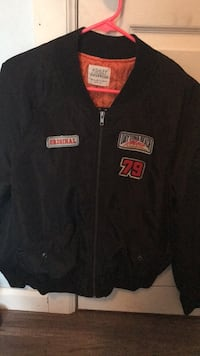 black and red San Francisco 49ers zip-up jacket Economy, 15005