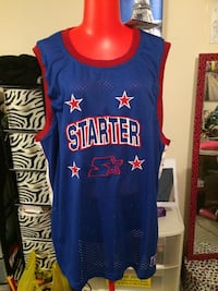 white, red, and blue Starter mesh jersey shirt St. Catharines