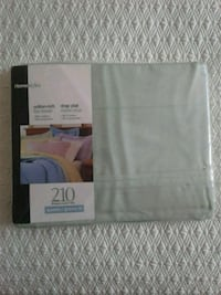 1 cotton queen flat sheet light green Kitchener, N2K 4J7