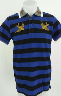 blue and black stripe polo shirt Montreal, H1G