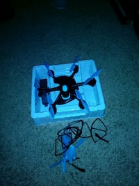 black and gray quadcopter drone with remote Denton, 76210