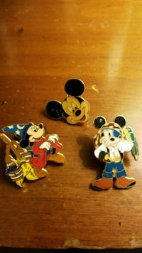 Mickey Mouse pins from Disney World  205 mi